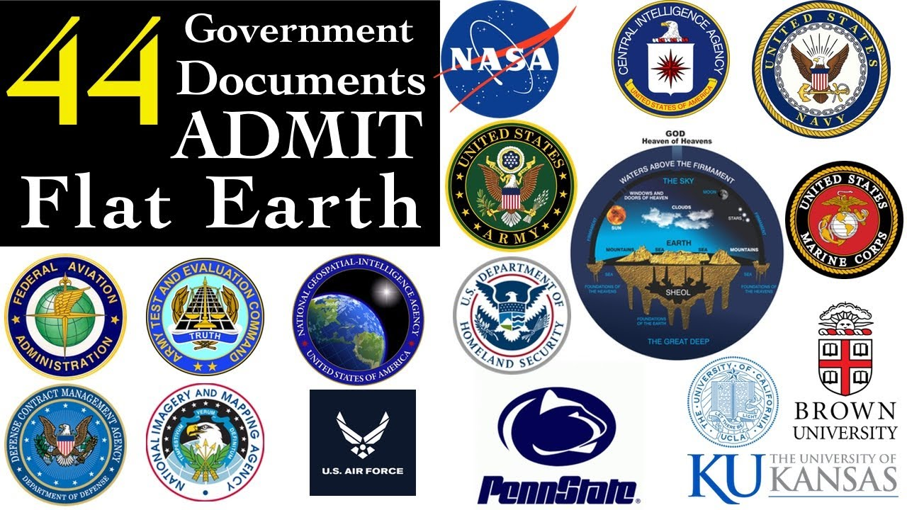 44 Government documents admit FLAT EARTH!